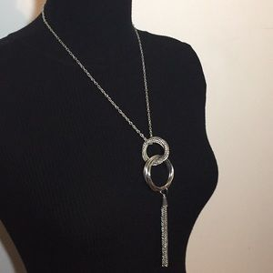 Vintage Fashion Jewelry Silver Tone Necklace